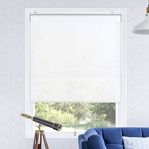 CHICOLOGY Snap-N'-Glide Cordless Roller Shades Smooth Privacy Window Blind, 35