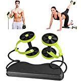 K-DD Nuevo Sport Core Double AB Power AB Roller AB Wheel Fitness Ejercicios Abdominales Equipment Coaster Pull roda Waist Slimming Trainer