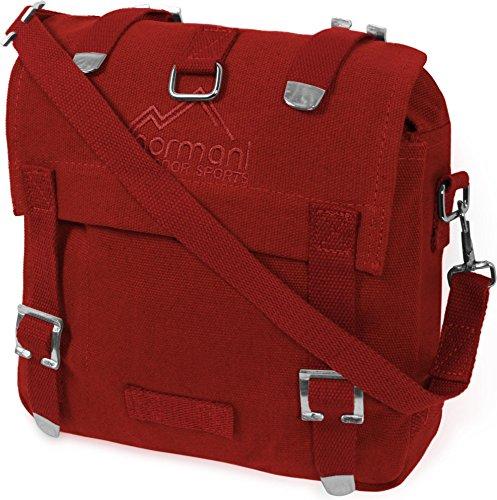 normani BW Kampftasche Canvas Tasche klein rot Farbe Rot