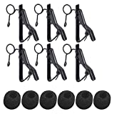 Microphone Clip Holder and Mic Windscreen Cover, 5/16' Lavalier Mic Clip with Microphone Foam (7.5-8.5mm) Lapel & Headset Microphone Compatible for ATR-3350, Samson, Nady, Shure, Audio-Technica