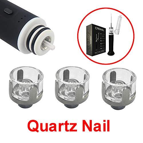 Wax Vaporizer Vape Pen Dab Rig E Nagel Glas Bongs Zubehör, 3 PCS/Pack (Quartz Nail)