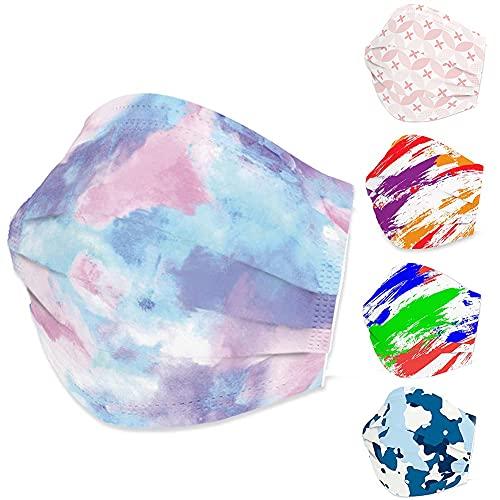 Edaren 50Pcs/Pack Unique Face Mask 3-Layer Fashion Design Protection Unisex Outdoor Mouth Shield Men Women 2#