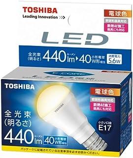 東芝 E-CORE(イー・コア) LED電球 ミニクリプトン形 5.6W (明るさ重視タイプ・密閉形器具対応・断熱材施工器具対応・口金直径17mm・小型電球40W相当・440ルーメン・電球色) LDA6L-H-E17/S