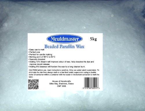 Moldmaster 5 Kg Candle Wax, Transparent