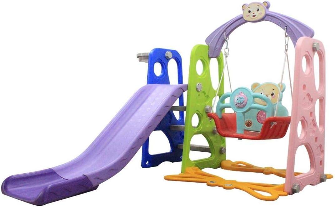 Huokan Toddler Slide and Swing Set 3 in 1, Kids Play Climber Sli