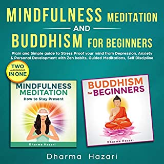Mindfulness Meditation and Buddhism for Beginners audiobook cover art