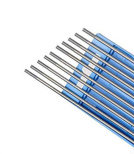 Hst 10St. Wolframelektroden Wolframnadel WP Grün, WC20 Grau, WL15 Gold, 4 Stärken x150mm (3,2 mm, Grau)
