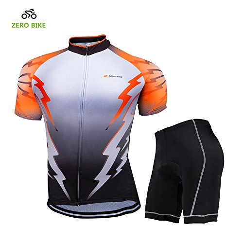 Men/'s Bicycle Clothing Sports Suit Long Sleeve Jersey Padded Pants Quick Dry