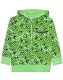 Minecraft Creeper Boys Green Zip Up Sudadera con capucha Niños