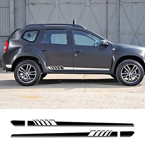 FSXTLLL Auto Seitenstreifen Seitenaufkleber Aufkleber, für Renault Dacia Duster Logan Sandero
