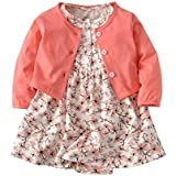 3PCS Baby Girl Clothes Ruffle Floral Shirt Tops...