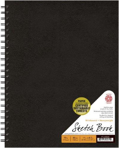 Pentalic Sketch Book, Wirebound, 8-1/2-Inch by 11-Inch