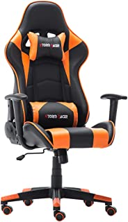 Storm Racer Erogonomic Gaming Chair Large Size Racing Style Computer Home Office Chair (Orange,S)
