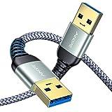 AINOPE USB 3.0 ケーブル A-Aタイプ(1m)USB オス-オス 金メッキコネクタ搭載 (12ヶ月保証)ノートパソコンの放熱パッド、DVDプレーヤー、ハードディスクドライブと互換性があります。