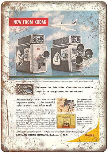 Decorative Vintage Retro Metal Sign 1958 - Eastman Kodak Brownie Movie Camera - Retro Look Metal Sign