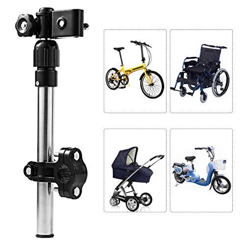 Leyeet Soporte de Paraguas de Acero Inoxidable Ajustable Soporte para Silla de Ruedas Conector de Paraguas de Bicicleta Soporte para Paraguas de Cochecito