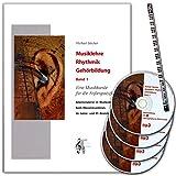 Musiklehre Rhythmik Gehörbildung 1 - Musikkunde (Anfangsstufe) für den Musikunterricht, beim Klassenmusizieren, im Junior- und D1-Bereich - Buch, 4xCDs, Bleistift 9789043135504