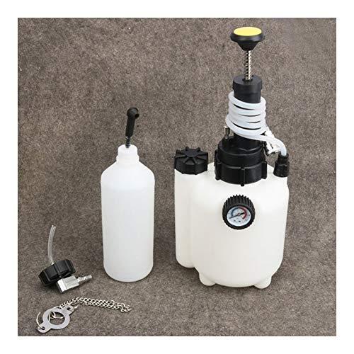 XIXI-Home Manual de 3L Freno de compresión Aceite del Cambiador de Purga de líquido de sustitución de Herramientas con Indicador de presión de Aceite