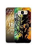 Sunrive Funda Compatible con Samsung Galaxy J7 (2016), Silicona Slim Fit Gel Transparente Carcasa Case Bumper de Impactos y Anti-Arañazos Espalda Cover(Q árbol)