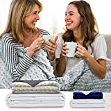 Soporis Adult Weighted Blanket with Cover - Luxurious Soft Removable Washable Sensory Cover - Weighted Blankets for Adults Insomnia Anxiety Stress Relief - Embrace Gravity 120x180cm | 6.8kg
