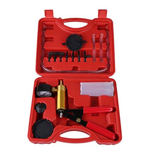 Estink Vakuumpumpe Bremsenentlüfter, Bremsenentlüftungsgerät Auto Werkzeug Pumpe Vakuum Hand Vakuumtester KFZ