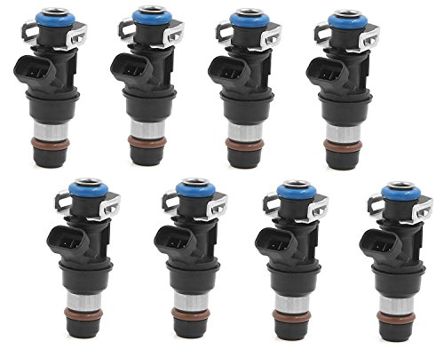 Performance Upgrade - (4 Hole) Re-manufactured OEM Delphi 25317628 Fuel Injectors for 2001-2007 Chevy/Cadillac/GM 4.8 5.3 6.0L Set of 8
