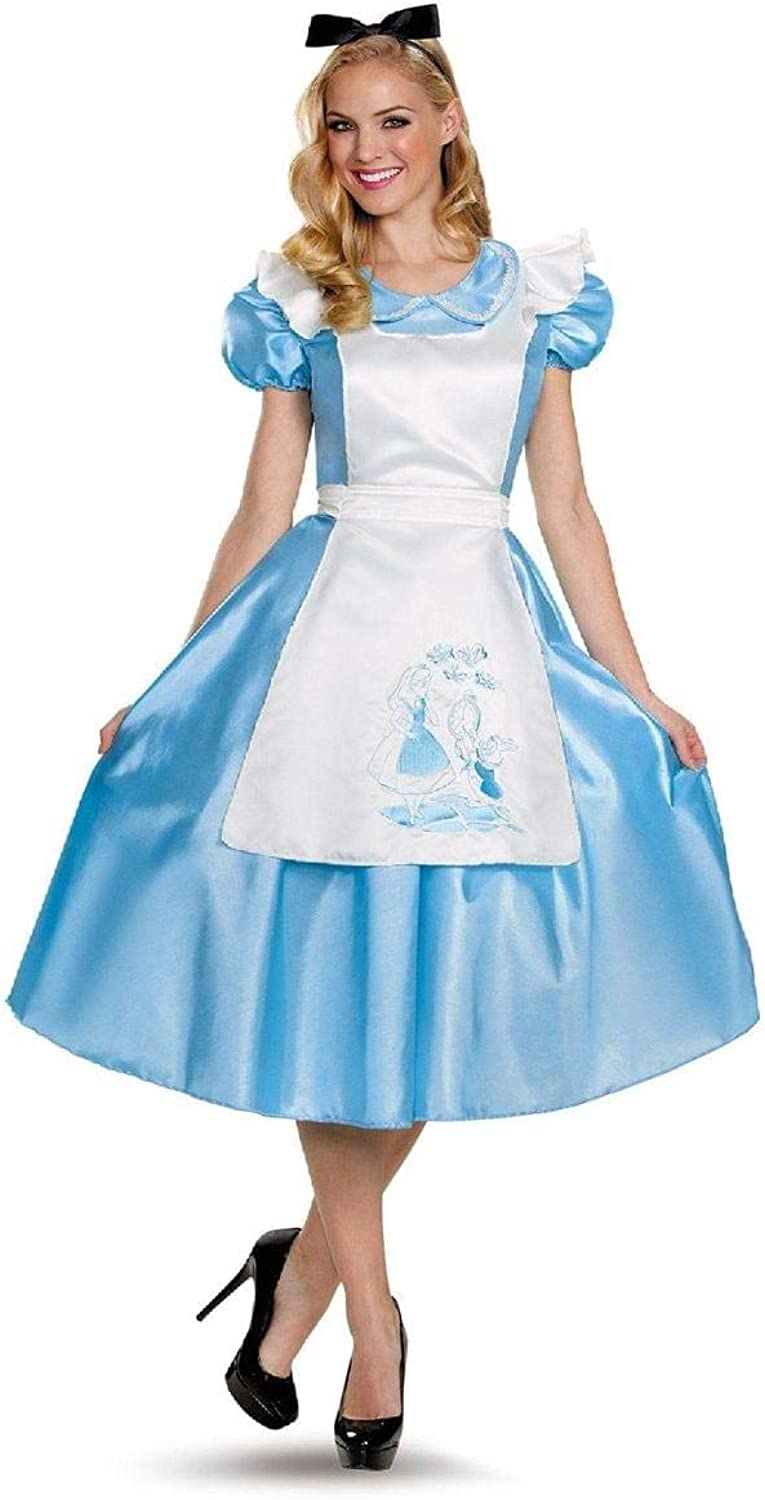 Disguise Womens Classic Alice Deluxe Adult Fancy dress costume Medium