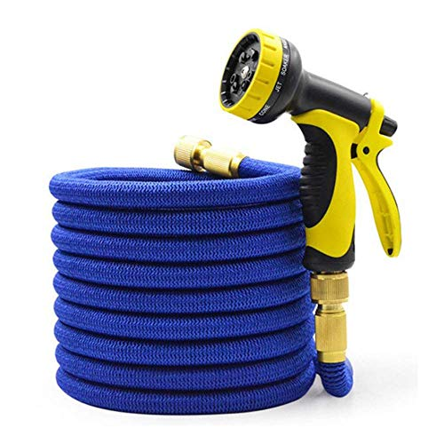 MALY Expandable Hose Water Pipe, Leakproof Durable Flexible Garden Water Hose with 9 Spray Nozzle,7.5m