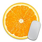 Orange Slice Mousepad, Tropical Mouse Pad, Fruit Mousepad, Vegan Mouse Pad, Cute Gift, Funny Gift, Food Mousepad
