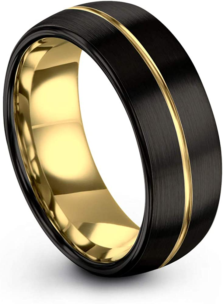 Midnight Rose Collection Tungsten Wedding Ring Men for 2021 spring and summer new Max 73% OFF Band 8mm