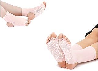 Calcetines de Dedos Separados para Yoga, Pilates y Baile, en Algodón 90%, sin Dedos y sin tobillero, para Hombre y Mujer, Tallas hasta la 41