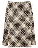 Nightingale Collection Faldas de invierno rectas para mujer, de tweed en espiga de espiga, de 27 pulgadas de longitud (18, beige y marrón 3)
