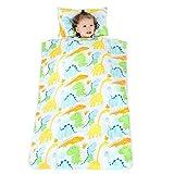 Blanketswarm Saco de dormir para niños con almohada y manta suave extraíble para niños y niñas para dormir en la guardería, preescolar