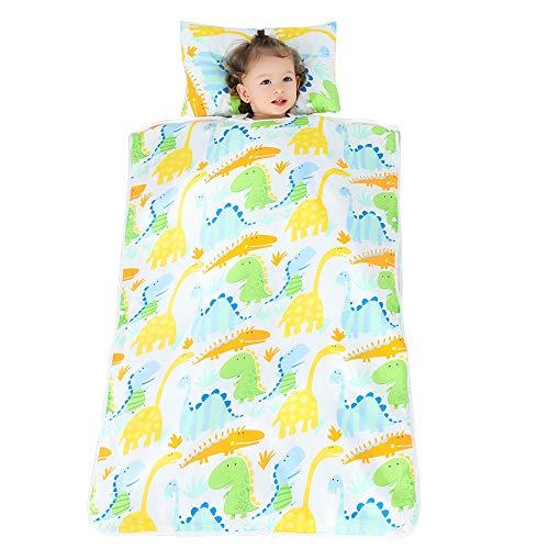 BELUPAI Baby-Schlafsack, Kinder-Schlafmatte mit abnehmbarem Kissen und Decke, geeignet für Zuhause, Kindergarten