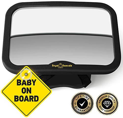 ROYAL RASCALS | Espejo vigilar bebé coche | Espejo