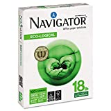 Navigator Eco-Logical Paper, 97 Brightness, 18 Lbs, 8-1/2 x 11 Inches, Bright White, 5000 per Carton (NEL1118)