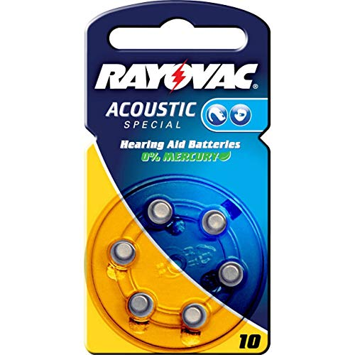 N°10 / JAUNE - 60 Piles Auditives RAYOVAC Acoustic Special 10