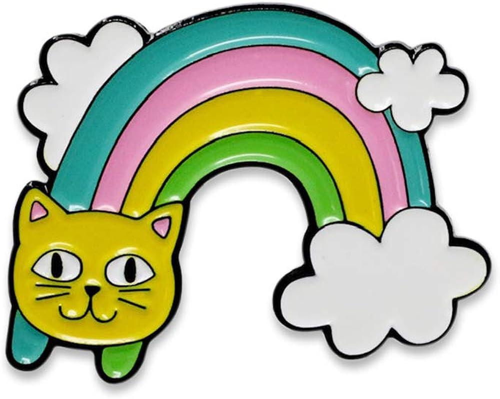 Cute Rainbow Cat Face Colorful Enamel Pin– 1 Pin