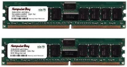 KOMPUTERBAY 4GB 2x 2GB DDR 400 MHz PC3200 4 GB DIMM CL3 184pin ECC REGISTERED for servers not desktops