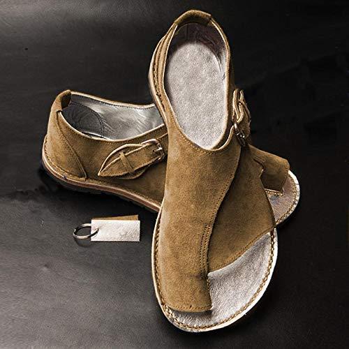 Domeilleur Zapatos de Viaje de Playa para Mujer, Confortables Sandalias con Corrector de juanete, para el Verano