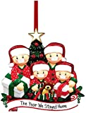 Christmas Decorations Hanging Ornaments, 2020 Christmas Tree Ornament Decor, Home Decor Doll Gifts, Personalized Family Decor Kit (4,5,6 Person) (4)