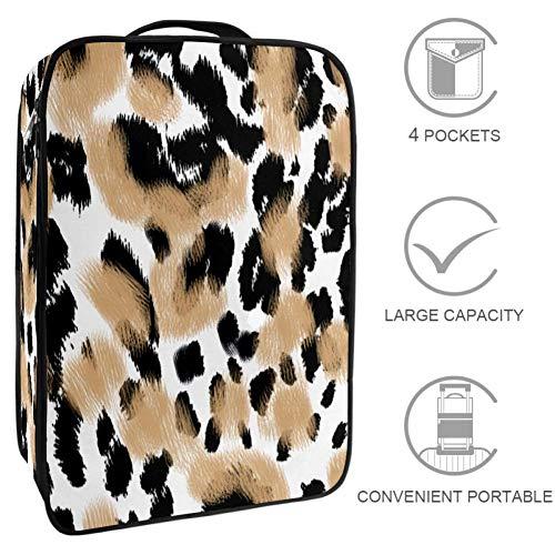 TIZORAX Animal Print Texture BackgroundBolsa de almacenamiento de zapatos bolsa de almacenamiento...