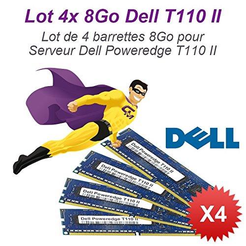 Lote 4x 8GB, 32GB RAM servidor Dell T110II DIMM 240-pin DDR3PC3–10600E ECC 2Rx8