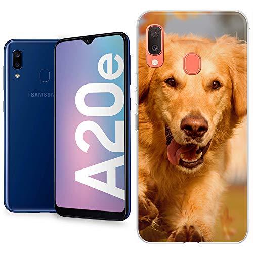 Movilshop Personaliza tu Funda [Samsung Galaxy A20e] de Silicona Flexible Transparente Carcasa Case Cover de Gel TPU para Smartphone