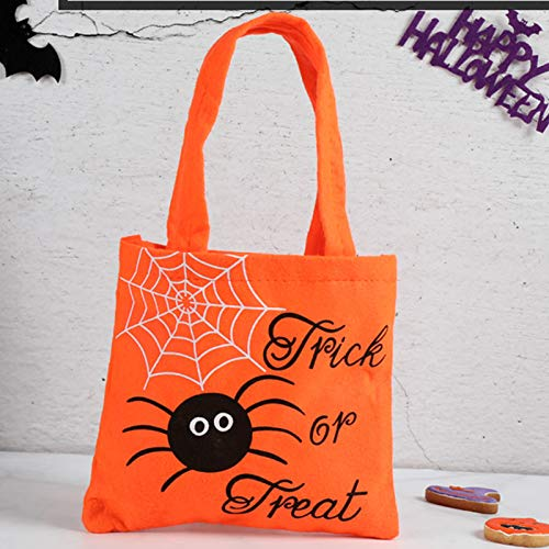 N / D Tasche Betteln Zuckerbeutel Party Dekoration Zuckerguss Keks Süßigkeiten Orange Spinne