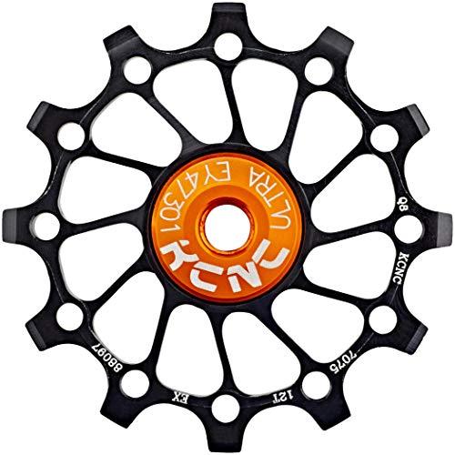 KCNC Jockey Wheel SS Bearing Narrow Wide Long Teeth 12 Zähne Black 2021 Lager