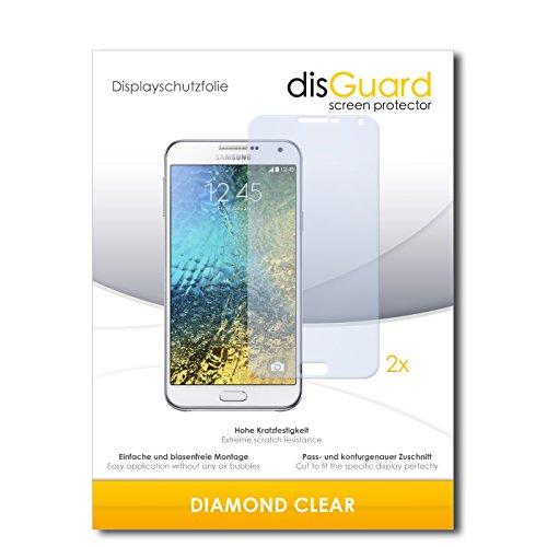 disGuard 2 x Bildschirmschutzfolie Samsung Galaxy E7 Schutzfolie Folie DiamondClear unsichtbar