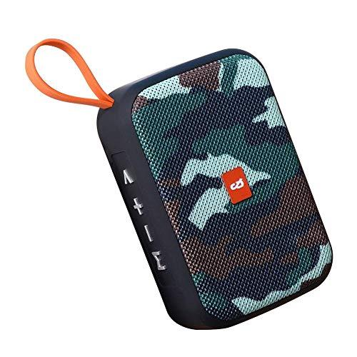Mini altavoz Bluetooth portátil con tarjeta SD y entrada AUX, 40W altavoz Bluetooth estéreo inalámbrico impermeable exterior con batería 2000mAh
