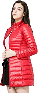 CWSY Women's Packable Ultra Light Weight Long Down Jacket for Winter and Fall