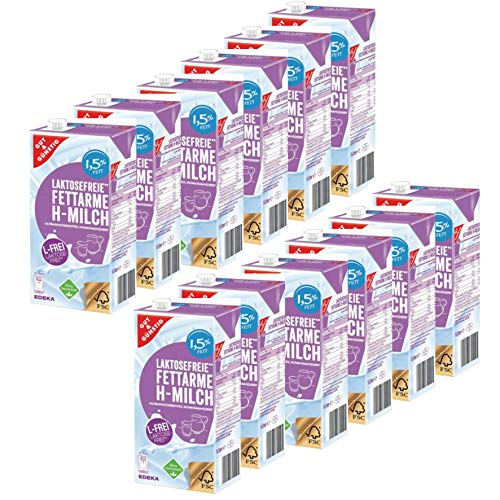Gut und Günstig Fettarme H-Milch Laktosefrei 1,5% 12x1 Liter